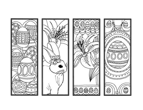printable easter bookmarks to colour diy easter bookmarks printable coloring page adult coloring