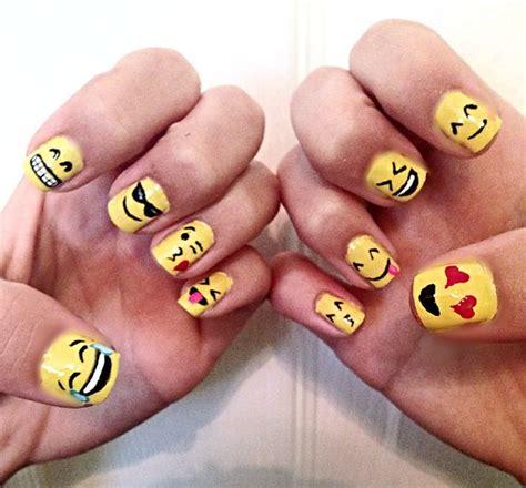 emoji nails emoji nails my nail art pinterest nails and emoji nails