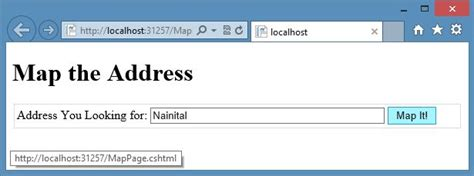 Search Address In Map View Address Using Maps In Asp Net Web Pages 2