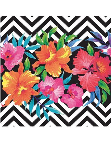 1325003905 fleurs tropicales calendrier anniversaire 20 serviettes en papier fleurs tropicales 33 x 33 cm