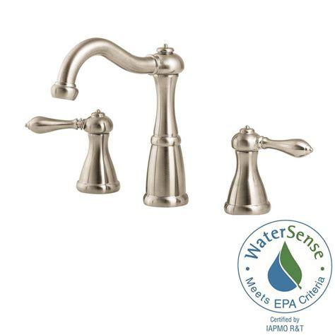home depot brushed nickel bathroom pfister marielle 8 in widespread 2 handle bathroom faucet
