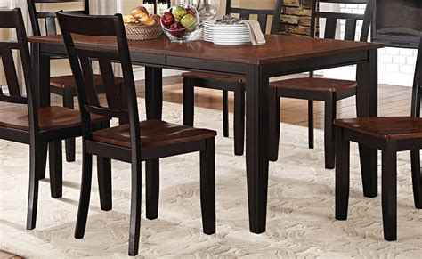 Two Toned Dining Table Homelegance Westport Dining Table Two Tone Black Cherry 5079bk 66 At Homelement