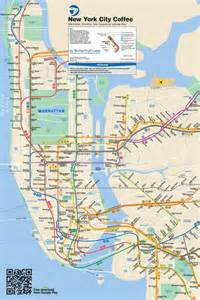 New Subway Map by New York Subway Coffee Map Daily Coffee News By Roast