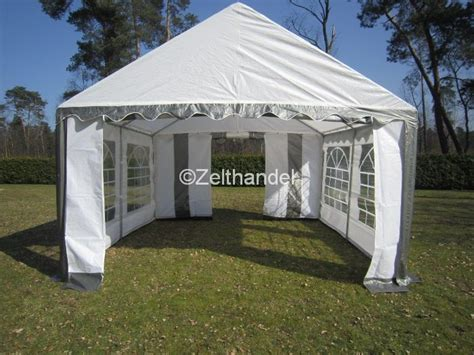 pavillon 5x4 partyzelt pavillon zelt 5x4 m 4x5m grau weiss neu ebay