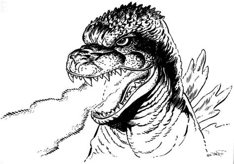 burning godzilla coloring pages godzilla godzilla dangerous fire breath coloring pages