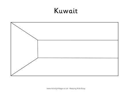 kuwait flag colouring page