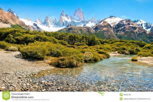 beautiful landscape in patagonia south america stock