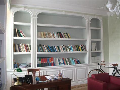 foto di librerie in cartongesso imbiancature classiche e moderne velature e finiture di pregio