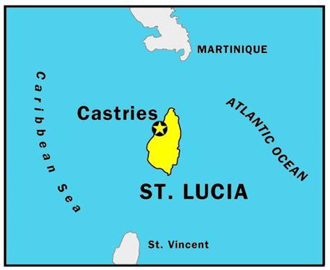 lucia on world map saint lucia northamerica