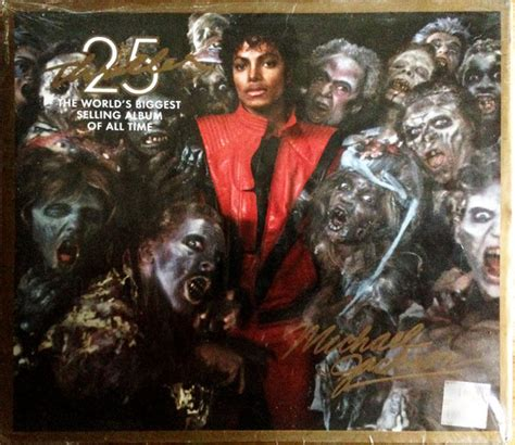 Thriller 25th Anniversary Edition Album Cover Michael Jackson Works With Akon Fergie William Kanye West For 212 Re Release by Michael Jackson Thriller Cd Album At Discogs