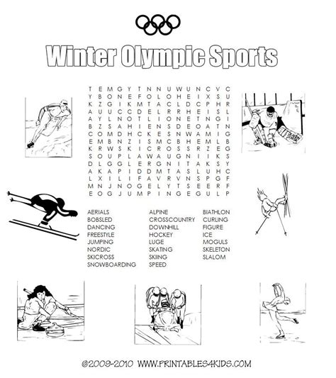 free printable winter word games winter olympic sports printable word search printables