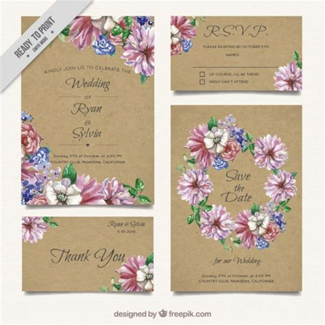 Wedding Invitation Freepik by Wedding Invitation Card Freepik Wedding