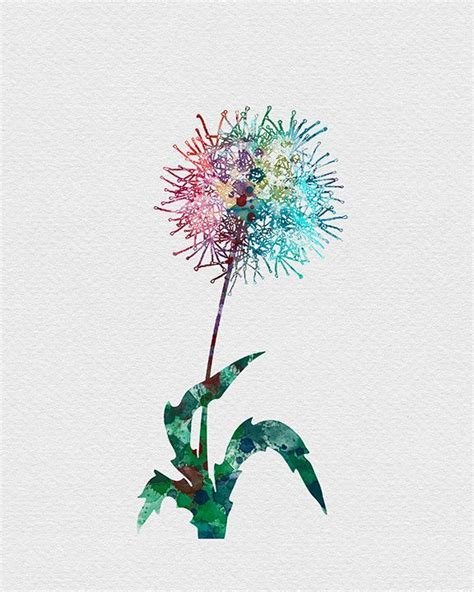 watercolor tattoo dandelion dandelion flower watercolor print dandelion flower