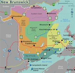 map of brunswick map of new brunswick map regions worldofmaps net