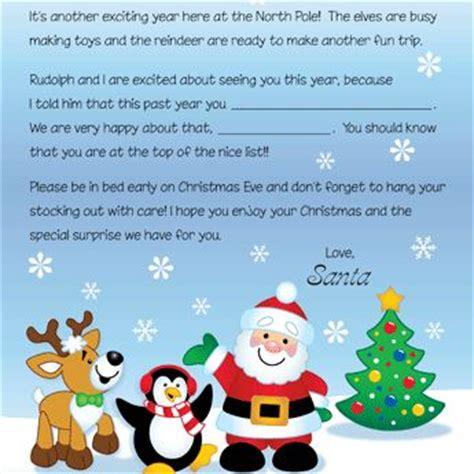 printable christmas eve letter from santa best 25 letter from santa template ideas on pinterest