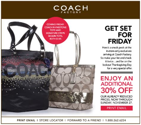 couch black friday additional 30 off at coach factory outlet november 22 27