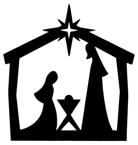 nativity card template word nativity clipart free best