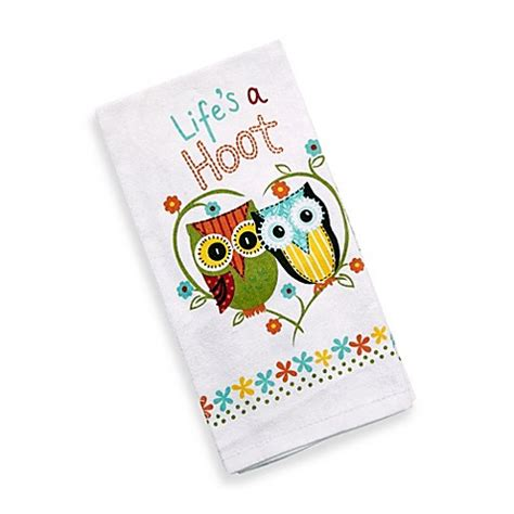 kay dee designs kitchen towels buy kay dee designs life s a hoot kitchen towel from bed