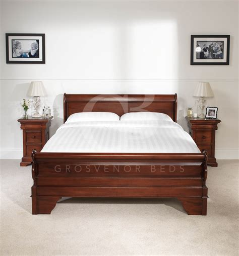 bed board king new 5ft king size solid mahogany french sleigh bed low