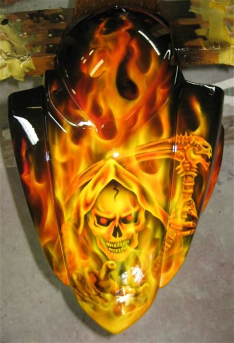 custom paintings custom motorcycle painting wa washington airbrush paint by painters tacoma