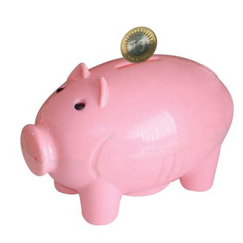 piggy bank in piggy bank with coins