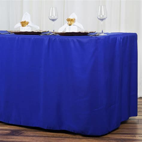 8 fitted polyester banquet tablecloth wedding table