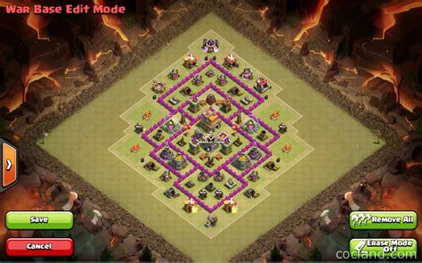 th7 war base layout defense th7 clash of clans goonsquadelite th7 war base 3 air defenses anti dragons hogs