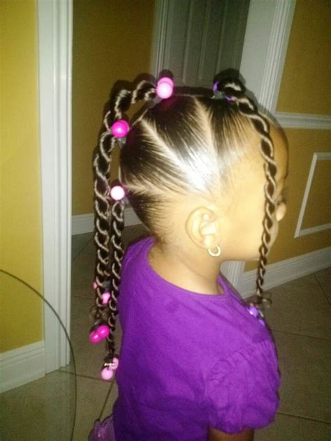 little girl hairstyles in ponytails african american little girl braid hairstyles styloss com