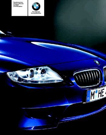 download car manuals 2006 bmw z4 m security system download 2006 bmw z4 m roadster owner s manual pdf 46 pages