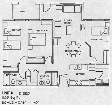 3 bed room floor plan city gate housing co op floor plans