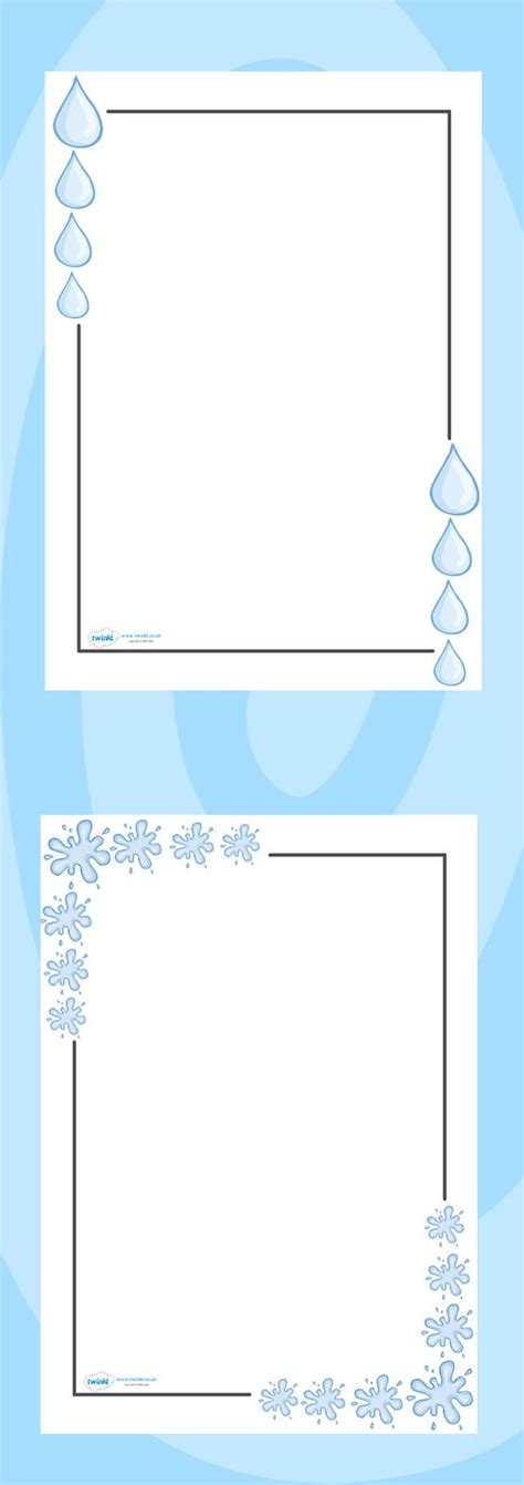 wedding border twinkl twinkl resources gt gt water page borders gt gt classroom
