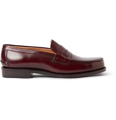 burgundy loafers for heschung hedera leather loafers in purple for