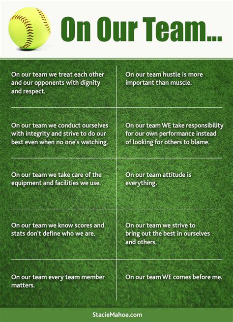 printable softball quotes free softball coaching printable on our team stacie