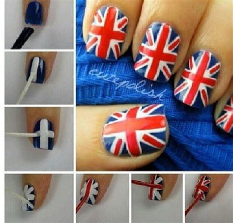 nail art tutorial british flag english flag nail tutorial diy pinterest english