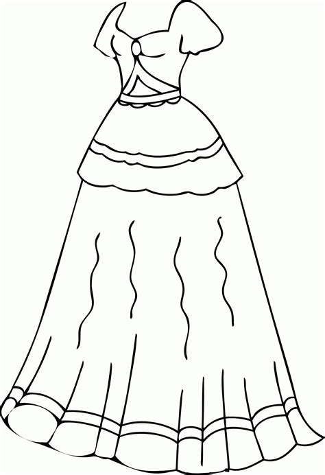 coloring pages for dress dresses coloring pages 908