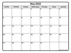 12 Month Calendar Template 2018 May 2018 Calendar May 2018 Calendar Printable