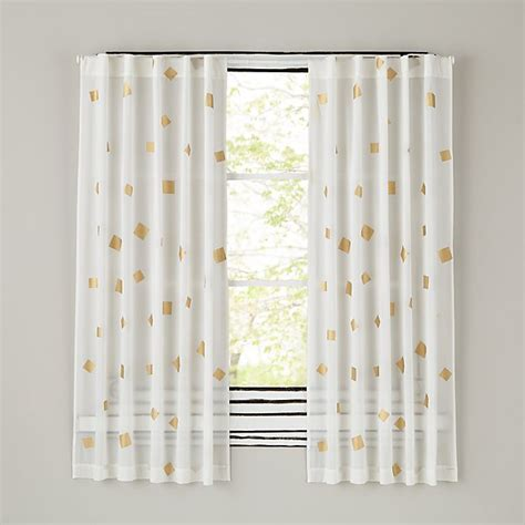 confetti curtains gold confetti curtain panels the land of nod