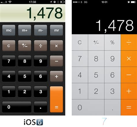 calculator iphone ios 7 apps comparisons