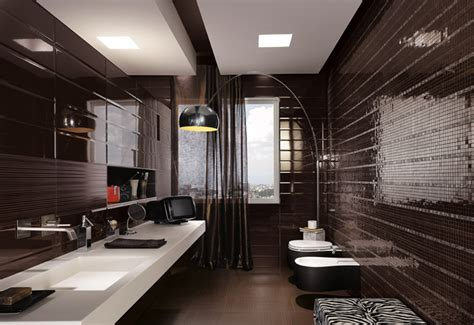 black mosaic bathroom black mosaic tiles maculine bathroom ideas interior
