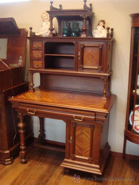 antiguo mueble alfonsino de madera de caoba res comprar
