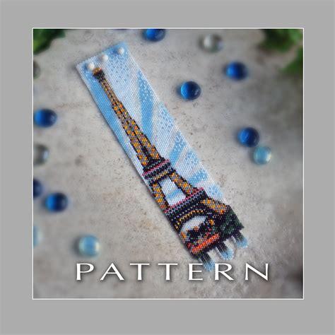 etsy bead pattern peyote beading pattern eiffel tower bracelet by