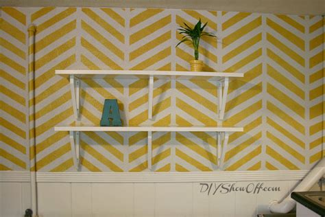 Diy Textured Paint - how to paint and stencil a herringbone accent walldiy show off diy decorating and home