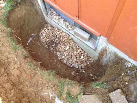basement window well drainage woods basement systems inc basement waterproofing