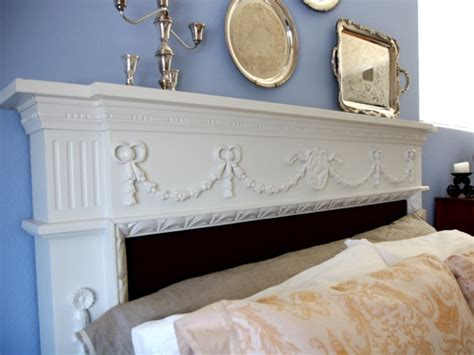 how to make a mantel headboard repurpose a fireplace mantel into a headboard small notebook
