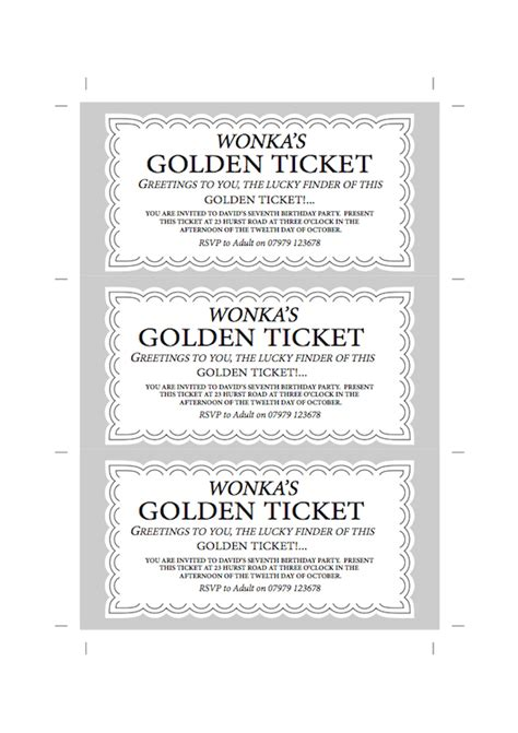 golden ticket invitation template willy wonka chocolate bar invite forward design
