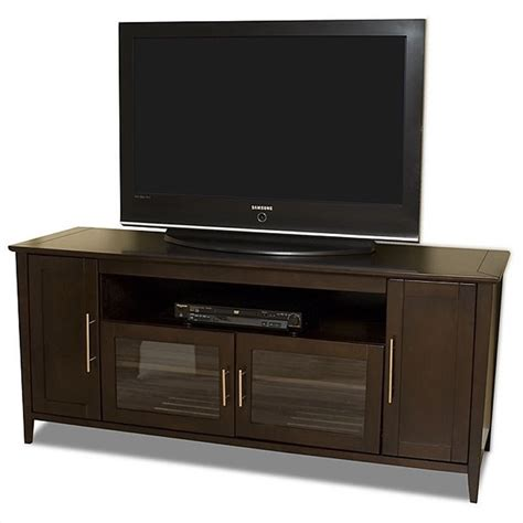 Credenza For Tv 64 quot wide espresso flat panel tv credenza shk6428e