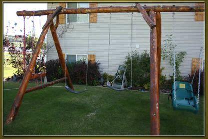 log swing set rustic log swing set cabin feaver pinterest logs