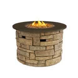 Buy Propane Fire Pit Outdoor Gas Fire Pits Fibreglass Rock Stone Finish Large