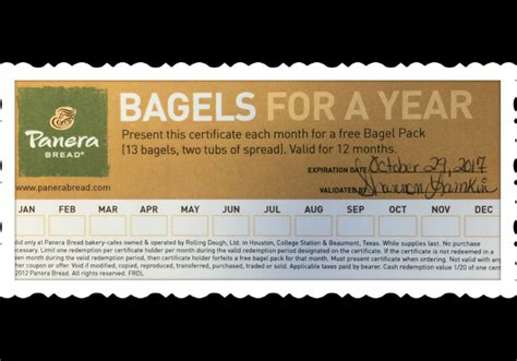Panera Descriptions by Panera Bread Bagels For A Year