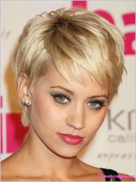 short hair styles cut round the ear short haircuts round face allnewhairstyles com